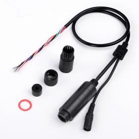 防水设计POE尾线FS5712D 黑色 1500V高压隔离 厂家直销摄像机尾线