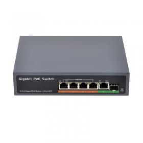 PSE604GS 4口全千兆POE交换机 带SFP光纤接口 IEEE802.3af/at标准